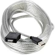(119379)  Кабель удлинительный USB 2.0 (AM) -> USB2.0 (AF), 25m, Vcom (VUS7049), активный