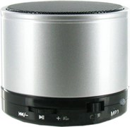 (1009054) Портативная колонка BL-S10 (Bluetooth, FM-радио, microSD, AUX) серебро
