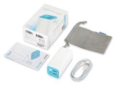 (1009292) Мобильный аккумулятор TP-Link TL-PB10400 10400mAh 2A+1A белый/голубой 2xUSB