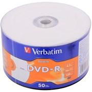 (1009281) Диск DVD-R Verbatim 4.7Gb 16x bulk (50шт) Printable (43793)