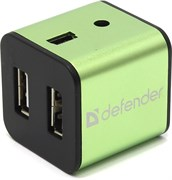 (1009335) Концентратор Defender Quadro Iron, 4 x USB 2.0, алюминиевый корпус