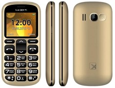 """(1009276) Мобильный телефон TEXET TM-B306  цвет золотистый 2.2"""" TFT (176x220), mp3, fm, bt, 600 мА*ч"""