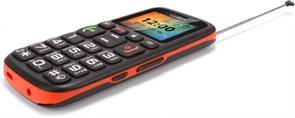 """(1009275) Мобильный телефон TEXET TM-B115 цвет черно-оранжевый 1.77"""" TFT (160x120), mp3, fm, 800 мА*ч"""