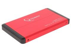 """(1009266) Внешний корпус 2.5"""" Gembird EE2-U3S-2 ,  красный, USB 3.0, SATA"""