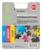 (1007936) Картридж струйный Cactus CS-CL513 многоцветный для Canon Pixma MP240/MP250 (12мл)