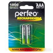 """(1009403) Аккумулятор Perfeo """"PF AAA1000/2BL"""" 1.2В 1000мАч Ni-MH AAA (2шт./уп.) (ret)"""