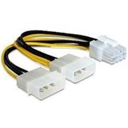 (1009434) Cablexpert Разветвитель питания 2xMolex->PCI-Express 8pin, для подключения видеоеарты PCI-Е (8pin) к б/п ATX (CC-PSU-81)