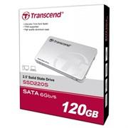 """(1009485) SSD накопитель 2.5"""" 120Gb Transcend SSD220S TS120GSSD220S, SATA 6Gb/s, R550 - W420 Mb/s, 78000 IOPS, 6.8mm"""
