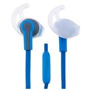 (1009514) Perfeo PF-SPT-BLU/GRY наушники спортивные внутриканальные c микрофоном SPORT синие с серым