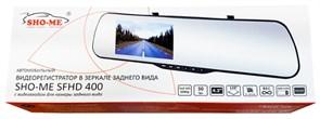 (1009530) Видеорегистратор Sho-Me SFHD 400 черный 3Mpix 1080x1920 1080p 120гр. Novatek 96220
