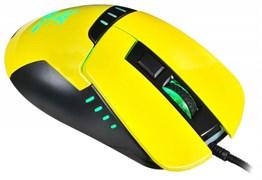 (1009617) Мышь Oklick Snake 865G черный/желтый оптическая (2400dpi) USB игровая (5but)