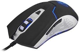 (1009616) Мышь Oklick Electro 875G черный/серебристый оптическая (2400dpi) USB игровая (5but)