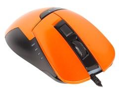 (1009615) Мышь Oklick 865G черный/оранжевый оптическая (2400dpi) USB игровая (5but)