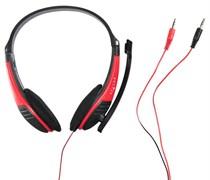 (1010030) Наушники с микрофоном Oklick HS-M150 черный 2м накладные (NO-003N)