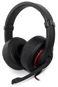 (1009600) Наушники с микрофоном Oklick HS-L330G черный 2.2м мониторы (N-6)