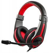 (1009599) Наушники с микрофоном Oklick HS-L200 черный/красный 2м мониторы (Y-819)