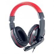 (1009588) Perfeo PF-SWT-BLK/RED компьютерная USB гарнитура полноразмерная SWAT чёрные/красные