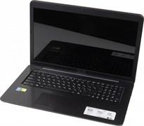 "(1009704) Ноутбук Asus X756UQ-TY232T Core i5 6200U, 4Gb, 1Tb, DVD-RW, nVidia GeForce 940MX 2Gb, 17.3"", HD+ (1600x900), Windows 10, black, WiFi, BT, Cam (90NB0C31-M02550)"
