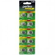 (1009691) Батарейка Perfeo LR44/10BL Alkaline Cell 357A AG13 1шт