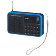(1009665) Perfeo мини-аудио Sound Voyager УКВ+FM, MP3 USB/TF цифровые кнопки, USB/600mAh, синий (SV521-BL)