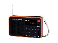 (1009664) Perfeo мини-аудио Sound Voyager УКВ+FM, MP3 USB/TF цифровые кнопки, USB/600mAh, оранжевый (SV521-OR)