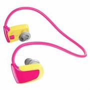 (1009656) Perfeo  цифровой спортивный аудио плеер Perfeo Neptun 8 Gb, жёлто-розовый (VI-M015-8 Gb Pink) Flash 8 Гб, время работы до 4 часов, вес: 27 г, защита от брызг.