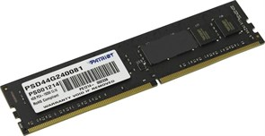 (1009822) Память DDR4 4Gb 2400MHz Patriot PSD44G240081 RTL PC4-19200 CL16 DIMM 288-pin 1.2В single rank