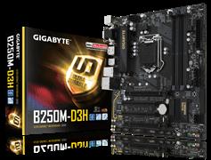 (1009815) Материнская плата Gigabyte GA-B250M-D3H Soc-1151 Intel B250 4xDDR4 mATX AC`97 8ch(7.1) GbLAN+VGA+DVI