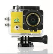 "(1009899) Экшн камера  S9 4K@15fps, 2"" дисплей, угол обзора 170 WIFI(желтый)"
