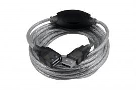 """(1009883) OXION кабель-удлинитель USB2.0 5m AM-AF с усилителем сигнала, серия """"Стандарт"""", двойной экран"""