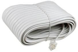 (1009878) Удлинитель телефонный (6р4с) 20 метров / белый