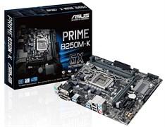 (1009944) Материнская плата Asus PRIME B250M-K Soc-1151 Intel B250 2xDDR4 mATX AC`97 8ch(7.1) GbLAN+VGA+DVI
