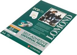 (1009941) Этикетки Lomond 2101013 для CD с отверстием d=117мм 70гр/м2 на лист.2эт. самоклеющаяся универсальная