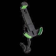 (1009916) Автомобильный держатель для смартфона с двумя USB CMDC-IP5-032 Black ( В автомобильный прикуриватель, регулируемая высота держателя 110-140мм; регулируемая ширина держателя 45-75мм; два порта USB 5V, 2.1A, гибкий шарнир)