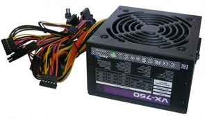 (1010004) Блок питания Aerocool ATX 750W VX-750 (24+4+4pin) APFC 120mm fan 6xSATA RTL