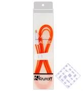 (1010012) USB кабель Krutoff micro с магнитом (1m) оранжевый в коробке