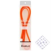 (1010006) USB кабель Krutoff для iPhone 4/4S с магнитом (1m) оранжевый в коробке