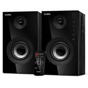 (206594) Колонки Sven SPS-615 (2.0), 2 x 10Вт, USB/SD, ДУ, цвет черный