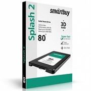 (1010167) Твердотельный накопитель Smartbuy SSD 80Gb Splash 2 SB080GB-SPLH2-25SAT3 {SATA3.0, 7mm}