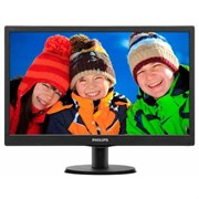 "(1010177) Монитор Philips 23.6"" 243V5LSB5 (00/01) черный TFT LED 5ms 16:9 DVI Mat 250cd"