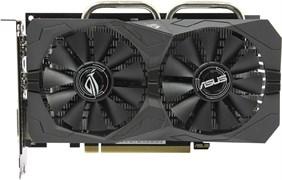 (1010145) Видеокарта Asus PCI-E ROG-STRIX-RX560-4G-GAMING AMD RX560 4096Mb 128b GDDR5 1275/7000 DVIx1/HDMIx1/D