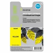 (1010380) Картридж струйный Cactus CS-CZ132 №711 желтый для HP DJ T120/T520 (26мл)