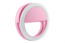 (1010312) Фонарь-кольцо для селфи Krutoff (розовый)