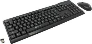 (1010484) Клавиатура + мышь Oklick 230M клав:черный мышь:черный USB беспроводная