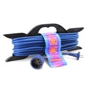 (1010528) PowerCube Шнур-удлинитель (PC-E1-F-20-R) 6А/1,3 кВт, 1 розетка, 20 м, морозостойкий, на рамке