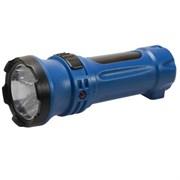 (1010630) Фонарь Космос Acc102LED (ручной, аккумуляторный, светодиодный, 1*0,5 LED, 2 режима, аккумулятор 4V 300mAh, вилка для зарядки от 220V)