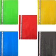 (1010615) Пластиковый скоросшиватель для файлов A4 COLOR MIX (5 цветов 140микрон) (10)(480)