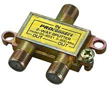 "(1010575) Proconnect Делитель ТВ х 2 под F разъём 5-2500 МГц ""Спутник"""