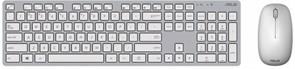 (1010709) Клавиатура + мышь Asus W5000 клав:серый/белый мышь:серый/белый USB беспроводная slim Multimedia