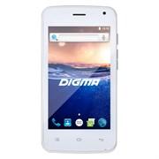 "(1010759) Смартфон Digma Q400 3G HIT 4Gb белый моноблок 3G 2Sim 4"" 480x800 Android 6.0 2Mpix 802.11bgn BT GSM900, 1800 GSM1900 TouchSc MP3 FM microSD max32Gb"
